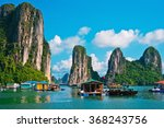 floating fishing village in... | Shutterstock . vector #368243756