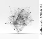 connection structure. wireframe ... | Shutterstock .eps vector #368247185