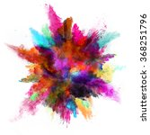 explosion of colored powder on... | Shutterstock . vector #368251796