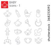 web icons set   baby toys ... | Shutterstock .eps vector #368253092