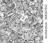 cartoon hand drawn doodles on...   Shutterstock .eps vector #368267012