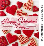 heart cookie gift card   Shutterstock . vector #368270768