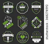 set of logos rock music and... | Shutterstock .eps vector #368278592
