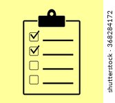 checklist sign. flat style icon ...   Shutterstock .eps vector #368284172