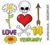 set for valentines day. skull... | Shutterstock .eps vector #368289185