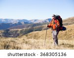 Man Hiking In The Mountains...