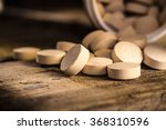 Small photo of Brewer's yeast tablets. Dietary supplement.