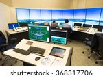 "Small photo of Air traffic monitor and radar in the controll center room of Bulgarian Air Traffic Services Authority"" (BULATSA), Sofia, Bulgaria, November 12, 2015."