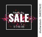 Valentine's Day Sale. Letters...