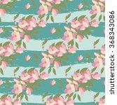 floral magnolia retro vintage... | Shutterstock .eps vector #368343086