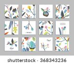 collection of unusual cards... | Shutterstock .eps vector #368343236