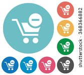 flat remove from cart icon set...