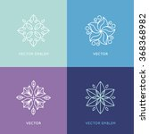 vector set of logo design... | Shutterstock .eps vector #368368982
