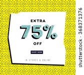 abstract sale banner in retro... | Shutterstock .eps vector #368371376
