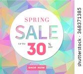 spring sale stylish banner  on... | Shutterstock .eps vector #368371385