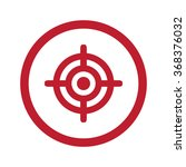 flat red target icon in circle... | Shutterstock .eps vector #368376032