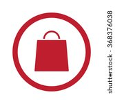 flat red shopping bag icon in... | Shutterstock .eps vector #368376038