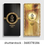 vertical gold vip cards with... | Shutterstock .eps vector #368378186