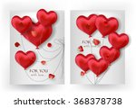 valentine's day cards with... | Shutterstock .eps vector #368378738