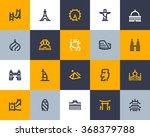 world famous landmarks icons.... | Shutterstock .eps vector #368379788