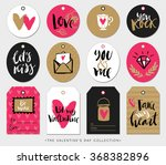 valentines day gift tags  cards ... | Shutterstock .eps vector #368382896