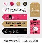valentines day gift tags  cards ... | Shutterstock .eps vector #368382908
