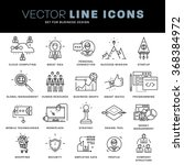 thin line icons set. business... | Shutterstock .eps vector #368384972