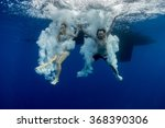 underwater view of the young... | Shutterstock . vector #368390306