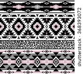 pastel color tribal navajo... | Shutterstock .eps vector #368393072