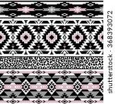 pastel color tribal navajo... | Shutterstock .eps vector #368393072