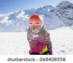 portrait of skier girl blowing... | Shutterstock . vector #368408558