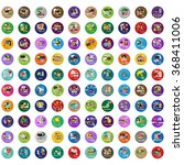 flat colorful icons set  vector ...