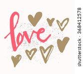 romantic valentines day... | Shutterstock .eps vector #368412578