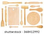 set of the wooden kitchen... | Shutterstock . vector #368412992