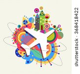 air plane world travel icon... | Shutterstock .eps vector #368418422