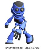 blue  science fiction robot... | Shutterstock . vector #36842701