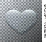 vector modern glass heart on... | Shutterstock .eps vector #368429735