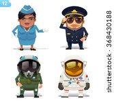flight professions | Shutterstock .eps vector #368430188