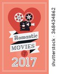 Постер, плакат: Romantic movies concept layout