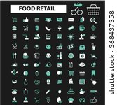 food  drinks  grocery  icons ... | Shutterstock .eps vector #368437358