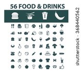 food  drinks  grocery  icons ... | Shutterstock .eps vector #368440562