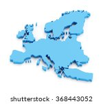 extruded map of europe  3d... | Shutterstock . vector #368443052