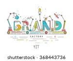 concept of creating and... | Shutterstock .eps vector #368443736