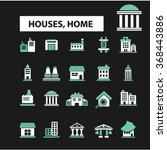 houses  home  buildings  icons  ... | Shutterstock .eps vector #368443886