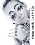 creative face paint | Shutterstock . vector #36844528