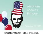 lincoln's birthday. february ... | Shutterstock .eps vector #368448656