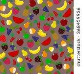 orange lemon watermelon ... | Shutterstock .eps vector #368459936