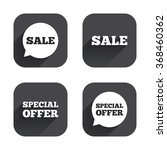 sale icons. special offer... | Shutterstock .eps vector #368460362
