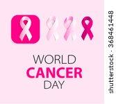 pink ribbons set. disease.... | Shutterstock .eps vector #368461448