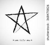 set of hand drawn stars on... | Shutterstock .eps vector #368470826